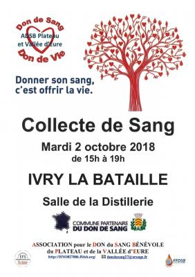 Don du sang 02 octobre